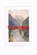 132 E.T.Compton Königssee Falkenwand Berchtesgaden Farbdruck Ca. 1921 !!! - Decretos & Leyes