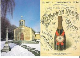 REIMS. 2 CP La Chapelle Foujita - Carton Rouge Galop Champagne Mumm - Reims