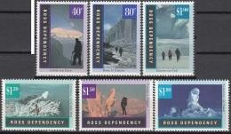 Ross Depency 1996 Michel 38 - 43 Neuf ** Cote (2005) 9.60 Euro Glaciers - Neufs
