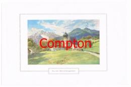 134 E.T.Compton Au Bei Berchtesgaden Farbdruck Ca. 1921 !!! - Decretos & Leyes