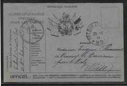 France - Carte De Franchise Militaire - Marcofilie (Brieven)