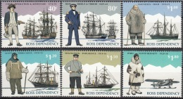 Ross Depency 1995 Michel 32 - 37 Neuf ** Cote (2005) 10.00 Euro Explorateurs Polaires - Dépendance De Ross (Nouvelle Zélande)