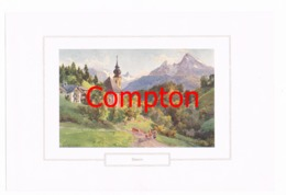135 E.T.Compton Gern Berchtesgaden Farbdruck Ca. 1921 !!! - Decretos & Leyes