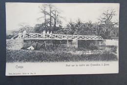 Cpa/pk Congo Pont Sur La Rivière Des Crocodiles à Boma - Congo Belge - Autres