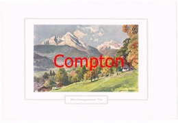 137 E.H.Compton Berchtesgadener Tal Berchtesgaden Farbdruck Ca. 1921 !!! - Prints