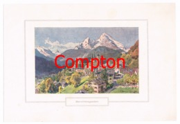 138 E.H.Compton Berchtesgaden Farbdruck Ca. 1921 !!! - Drucke