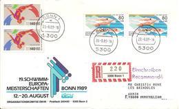 1989 Championnat D'Europe De Natation Bonn ;recommandée - Natation