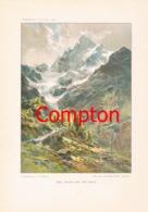 139 E.T.Compton Pizzo Tresero Farbiges Kunstblatt Druck 1898 !! - Decretos & Leyes