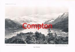 141 E.T.Compton Lago Hauthal Anden Panorama Druck 1904 - Drucke