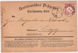 1872, DR 1 Gr. A. Corresp. Karte NDP ! , #a1832 - Deutschland