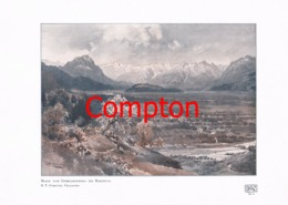 145 E.T.Compton Gebhardsberg Rheinthal Farbdruck Von 1907 !!! - Prints
