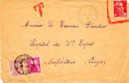 Devant De Lettre De Rebecourt  Avec Annulation De L'affranchissement à 5 F Et Taxatio à 4 F 50 X 2 - Postage Due