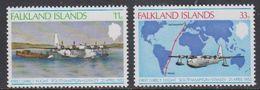 Falkland Islands 1978 Anniversary 1st Direct Flight 2v  ** Mnh (41734A) - Falklandeilanden