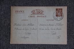 Entier Postal Sur Carte Postale D'ORAN ( Bâtiment De Ligne DUNKERQUE) Vers PARIS ( 1941) - Algérie (1924-1962)