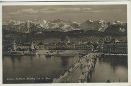 Luzern - Seebrücke. Bahnhof Und Die Alpen. Switzerland  S-4693 - LU Lucerne