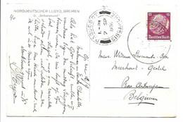 Carte Postale - Cachet Paquebot Singapore Et Deutsche Schiffpost Bremen-Ostasien. - Singapur (...-1959)