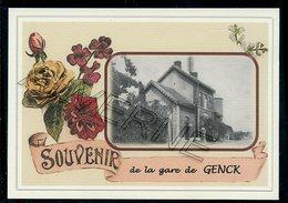 GENCK  /  GENK.....  2 Cartes Souvenirs Gare ... Train  Creations Modernes Série Limitée - Genk
