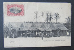 Cpa/pk CONGO BELGE IREBU CONSTRUCTION D'UNE HABITATION - Congo Belge - Autres