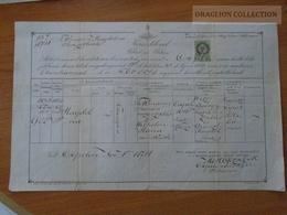 ZA176.18  Old Document  Hungary  -CSEPEL - Magdolna (1853) -János Tikmann - Maria Wilhelm - 1871 -József Mertl - Naissance & Baptême