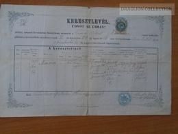 ZA176.19 Old Document Slovakia Turócszentmárton -Turčiansky Svätý Martin -Zilina- Maria (1856) DROBKA -Szlaboncsek 1886 - Birth & Baptism