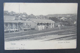 Cpa/pk CONGO BELGE La Gare De Matadi - Congo Belge - Autres