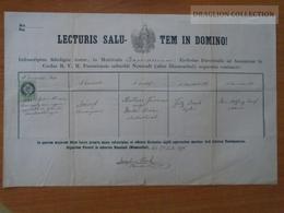 ZA176.20 Old Document Slovakia Bratislava - Neustadt - Blumenthal - József (1848) MÜLLNER  (Müller)  -Decker - 1871 - Naissance & Baptême