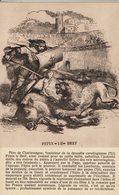 PEPIN LE BREF TUANT UN LION - Histoire