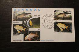 Enveloppe 1° Jour SENEGAL Les POISSONS 29 Février 1988 - Sénégal (1960-...)