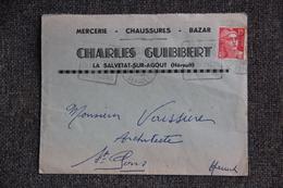 Enveloppe Publicitaire - LA SALVETAT SUR AGOUT : Charles GUIBBERT, Marcerie, Chaussures, Bazar - France