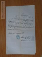ZA176.22 Old Document Hungary Pest - Jozef Rausz  1871 - Faire-part