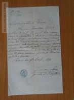 ZA176.23 Old Document Hungary Pest -  Franciscus KAINZ  1871 - Faire-part