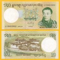 Bhutan 20 Ngultrum P-30b 2013 UNC Banknote - Bhutan