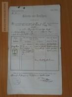 ZA178.1 Old Document Austria Kärnten - Gurk - SANDHOF - Franz Xaver (1841) - Weber 1870 - Birth & Baptism