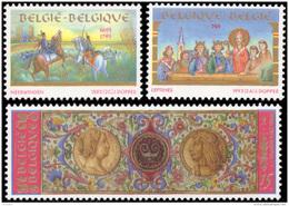 Belgium 2491/93**  Histoire  MNH - Belgium