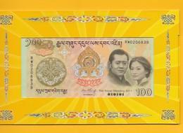 Bhutan 100 Ngultrum P-35 2011 Commemorative Royal Wedding (with Folder) UNC Banknote - Bhutan