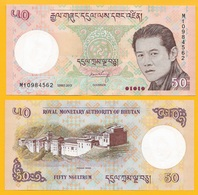 Bhutan 50 Ngultrum P-31b 2013 UNC Banknote - Bhoutan