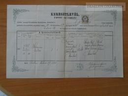 ZA178.2 Old Document Hungary  SZOB - Hermina Júlia (1858) - Nyemecz - Weisz - Poliákovits Ignácz  1885 - Naissance & Baptême