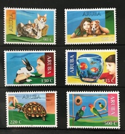 S 310 ++ ARUBA 2018 FAUNA CAT DOG RABBIT PARROT TURTTLE MNH VERY FINE - Curaçao, Nederlandse Antillen, Aruba