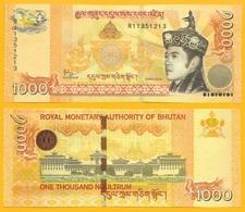 Bhutan 1000 Ngultrum P-34b 2016 UNC Banknote - Bhutan