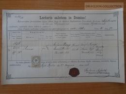 ZA178.4 Old Document Slovakia  Liptótepla Liptóhévíz, Liptovská Teplá - Anna (1856)  Bagyo - Mender - 1888 - Naissance & Baptême