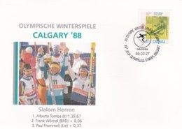 Canada Cover 1988 Calgary Olympic Games - Calgary Slalom   (G83-15A) - Winter 1988: Calgary