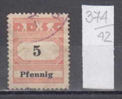 42K374 / DDSG D.D.S.G. Danube Donau 5 PFENNIG , Revenue Fiscaux Steuermarken , Germany Deutschland Allemagne - Unclassified