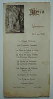 Menu De Communion. - 3 Mai 1936. - Menus