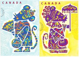 Nouvel An Chinois CANADA 2004 , Année Du Rat - Modern Cards