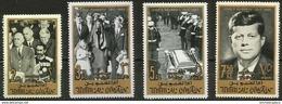 Umm Al-Qiwain - 1965 Kennedy Memorial 4 Highest Values MNH **  Sc 30-3 - Umm Al-Qiwain