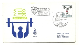 1980 - San Marino 1064 Europei Di Sollevamento Pesi - FDC - Pesistica