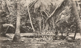 Cpa Iles Gilbert Interieur De La Foret - Micronesië