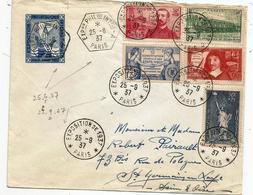 - SEINE - PARIS - EXPOSITION De 1937  - Càd S/TP N°339-341-352-353-357 + Rare Curiosité - 1937 - France