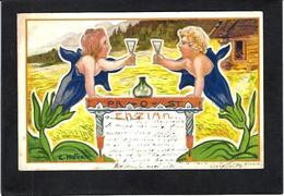 CPA Hofer Art Nouveau Circulé En 1900 Surréalisme Voir Scan Du Dos Type Combaz - Illustrators & Photographers