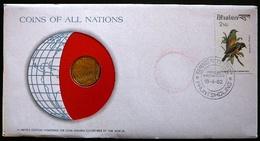 Numisletter Bhutan  Coin UNC 20 Chetrums 1974 + Stamp Michel Nr 761 - Bhoutan